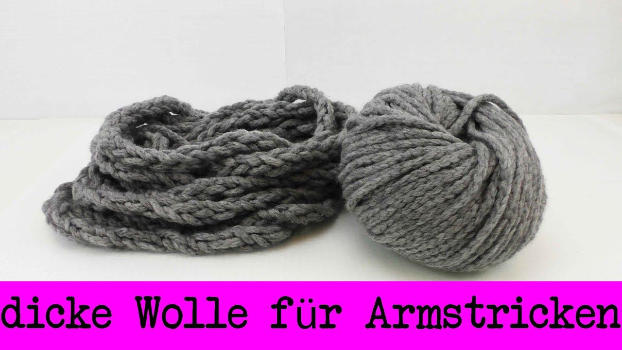 Super Dicke Wolle Für Armstricken Selber Machen Fingerstricken