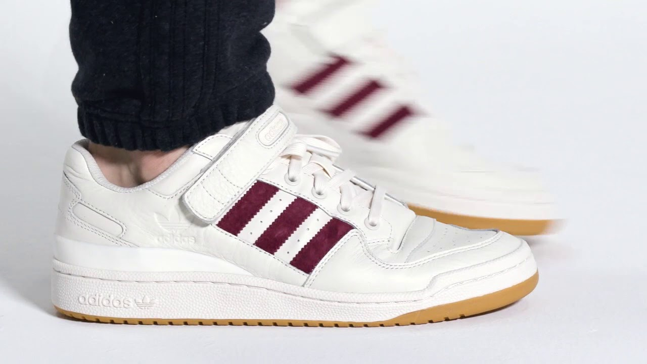 adidas Originals Forum Low Chalk WhiteBurgundy
