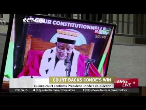 Guinea's Constitutional Court confirms President Conde's re-election