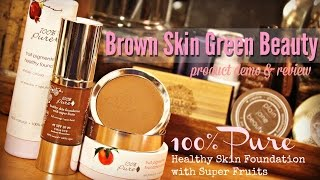 natural beauty brands #3: 100% Pure  product & demo review: