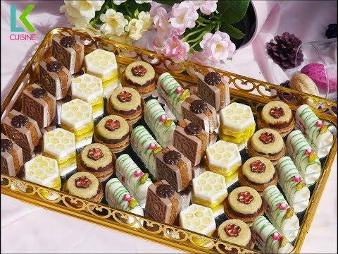 جديد اربع اشكال حلويات بدون فرن كتحمق في المذاق بثلاث حشوات مختلفة ومميزة