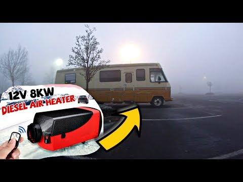 Cheap Ebay Diesel Heater Installed Rv Living Youtube