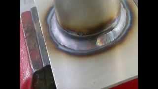 Aula de solda TIG na Pos. 2F em Tubo (Lesson fillet weld on pipe 2F Position)