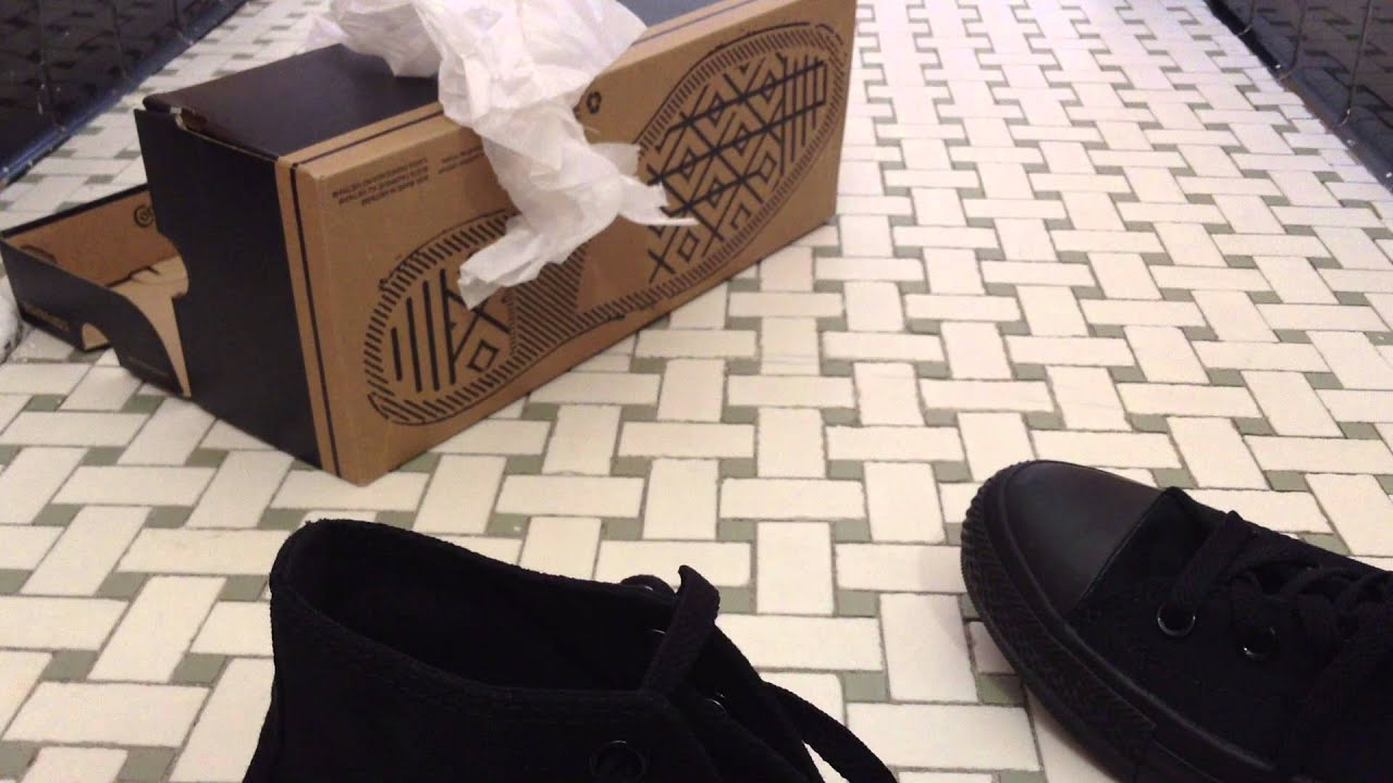 Converse All Star High UnboxingReview (Black)