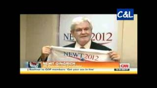 Newt Gingrich Busted with Campaign Shirts from El Salvador...Buy American!