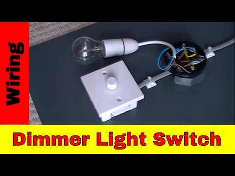 How to wire dimmer light switch.