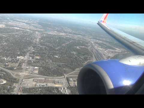 *Onboard* Southwest 737-700 Epic Landing Kansas City International HD