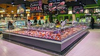 «Silpo» supermarket in Kyiv/Холодильные витрины «Айсберга» в супермаркете «Сільпо»(Компания «Айсберг» произвела для нового магазина торговой сети «Сільпо» весь комплекс холодильного обору..., 2016-03-31T11:53:17.000Z)