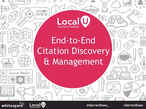 End-to-End Citation Discovery and Management | by: @DarrenShaw_ via http://www.whitespark.ca