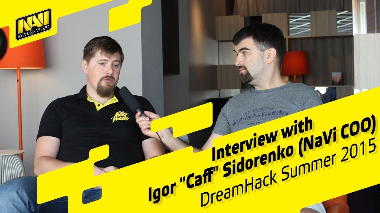 "Interview with Igor ""Caff"" Sidorenko (Na`Vi COO) @ DHS 2015 (ENG ..."