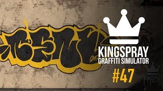 [ Kingspray Graffiti ] EP47: Painting a black and yellow throwie