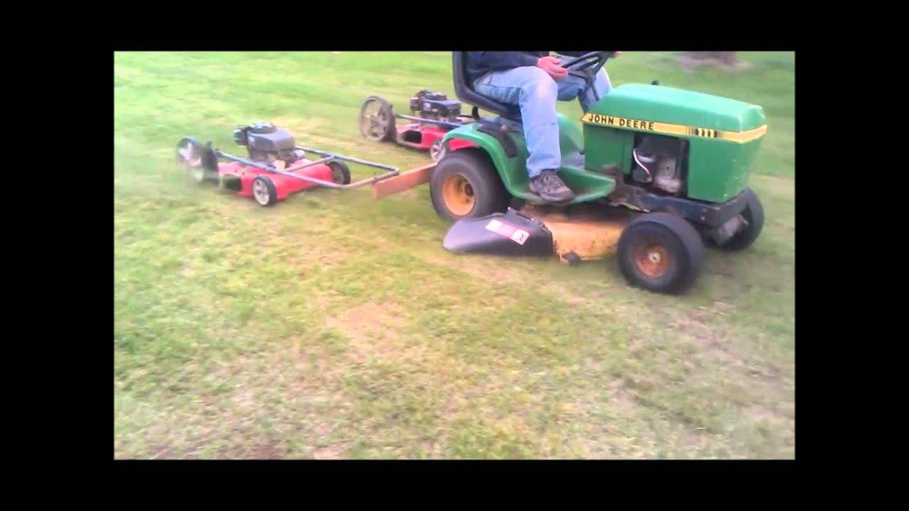 Lawn Mower Foot : Foot wide cut lawn mower youtube