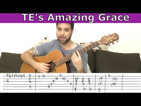 Explaining Tommy Emmanuel's Amazing Grace - Guitar Lesson Tutorial w/ TAB