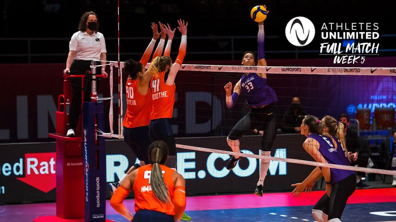 LIVE 🔴 Team Purple vs. Team Orange - Week 5 | Athletes Unlimited Volleyball 2021