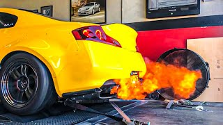 Twin Turbo G35 Gets Tuned! (FLAMES, POPS & FULL SENDS!)