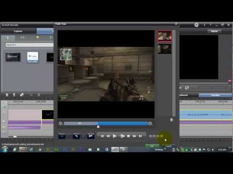 ☼ Editing with Arcsoft Showbiz Software - Edit your video -  Part 3 of 4