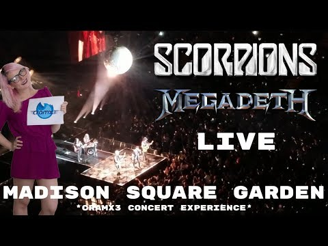 Scorpions & Megadeth - LIVE - Madison Square Garden 9/16/17 *cramx3 concert experience*