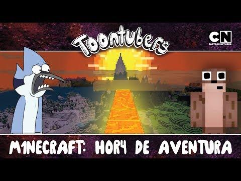 ¡VAMOS A TRANSFORMAR TODO EN ORO EN MINECRAFT! | Toontubers | Cartoon Network