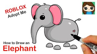 How to Draw an Elephant  Roblox Adopt Me Pet