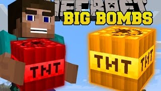 Minecraft: BIG BOMBS (NEW INSANE TNT EXPLOSIVES!) One Command Creation