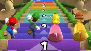 Mario Party 9 Step It Up - Mario vs Luigi vs Peach vs Daisy Gameplay | GreenSpot
