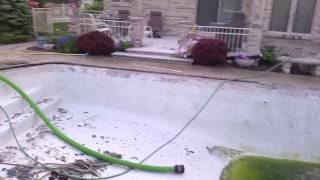 stripping pool coping and stripping pool tile to