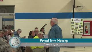 Pownal Town Meeting // 3-2-20