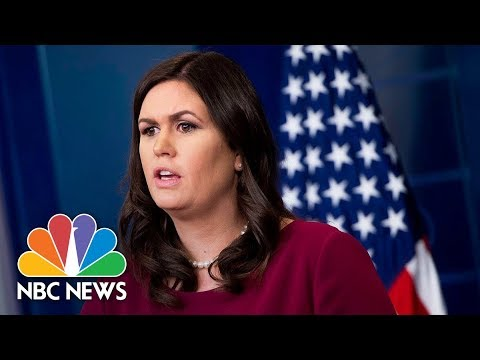 Watch Live: White House Press Briefing - January 11, 2018