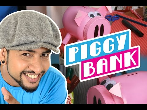 Mad Stuff with Rob – How to make a Piggy Bank | DIY Craft for Children | New Year's Special