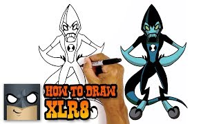 How to Draw XLR8 | Ben 10 | Step-by-Step Tutorial