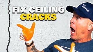 HOW TO FIX CEILING CRACKS.  Drywall repair hacks & sheetrock repair tips