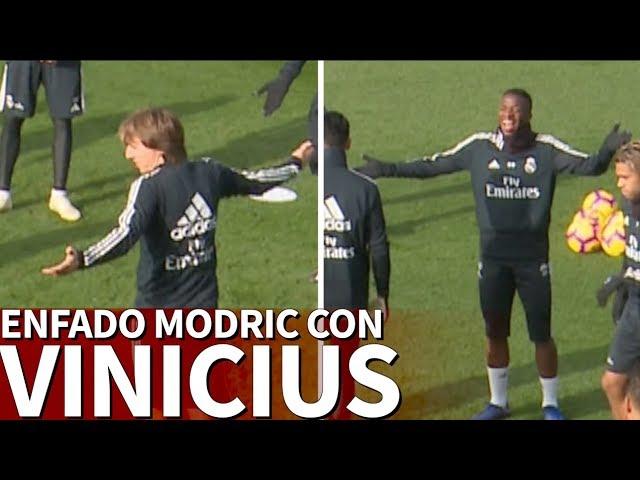 El enojo de Modric con Vinicius en el 'tontito' del Real Madrid | Diario AS