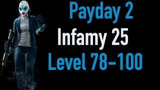 Payday 2 Infamy 25 | Part 3 | Level 78-100 | Xbox One