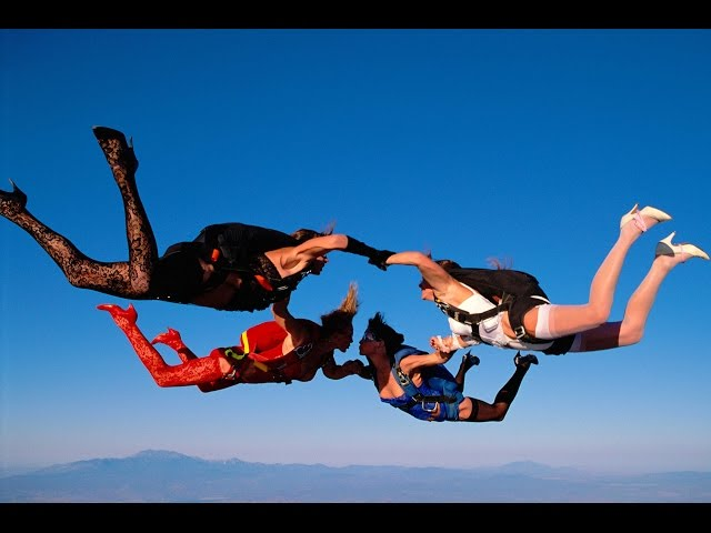 Lingerie Skydive from Over The Edge a film by Tom Sanders
