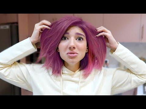صبغت شعري زهري بسبب خطأ غبي 😢😱