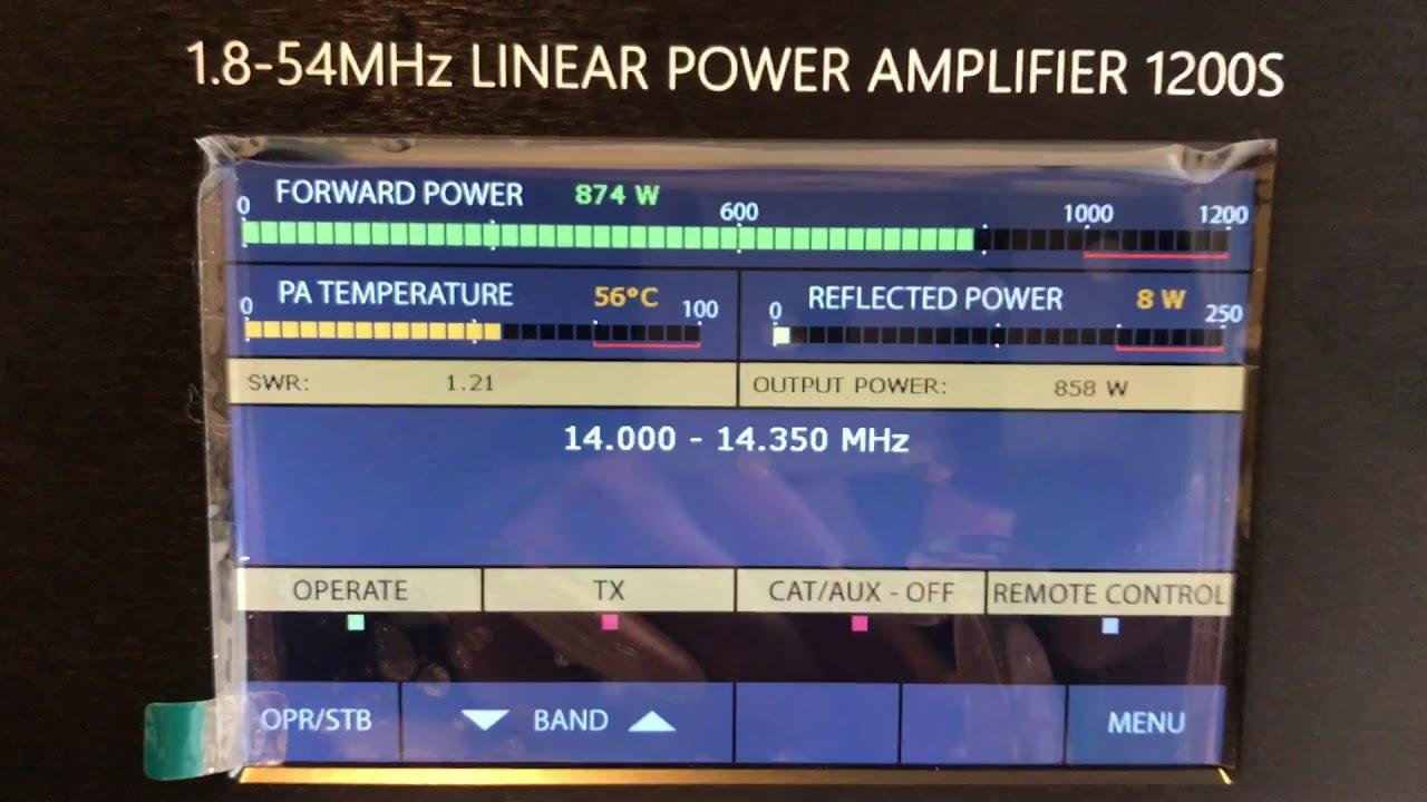 ACOM 1200s Linear Amplifier Key Down Carrier Test G3VM