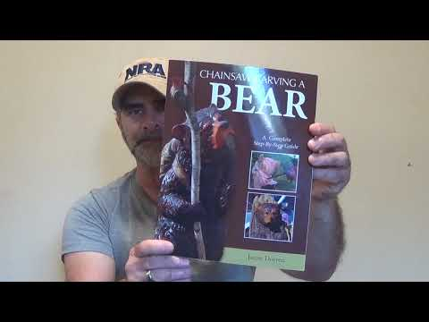Woodcarving the book chainsaw carving a bear youtube