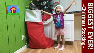 World's Biggest Surprise Toys Christmas Stocking! Disney Princess & Paw Patrol Toys