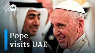 Pope Francis pays historic visit to the United Arab Emirates | DW News