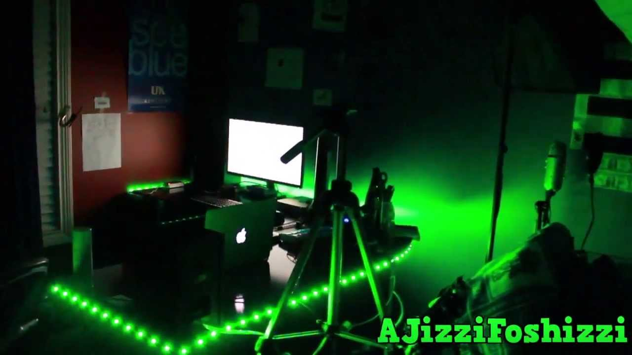Led Strip Light Reacts To Sound Demo Bedroom Youtube