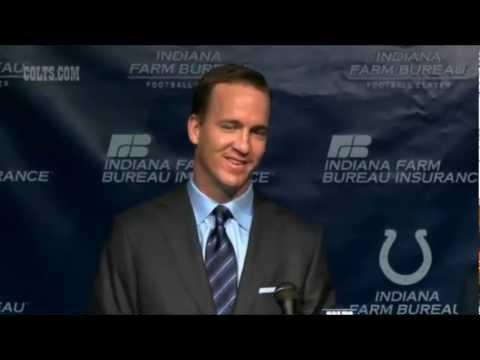 "Peyton Manning ""GoodBye"" Press Conference 03.07.12"