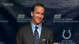"Peyton Manning ""GoodBye"" Press Conference 03.07.12"