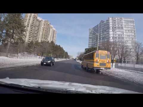 Driving To Toronto From Mississauga.  Ontario Canada. Part (1) Urdu I Hindi.