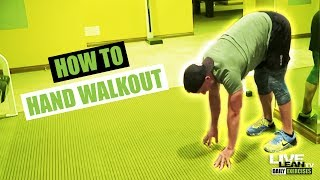 How To Do A HAND WALKOUT | Exercise Demonstration Video and Guide