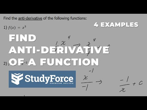 📚 How to find the anti-derivative of a function (Part 1)