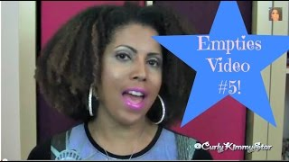 EMPTIES #5! What would I buy again?  |  CurlyKimmyStar Thumbnail