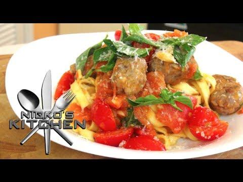 Cheats Meatballs with Tagliatelle Pasta - Video Recipe