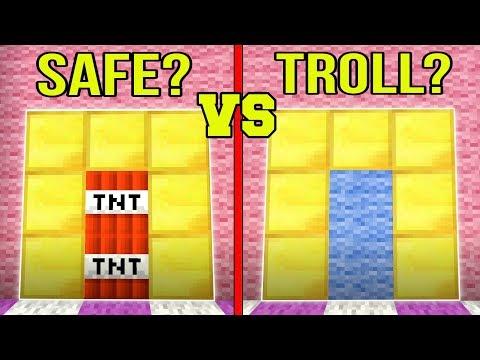 Minecraft: SPOT THE TROLL!!! - FAKE DOORS & BLOCKS!