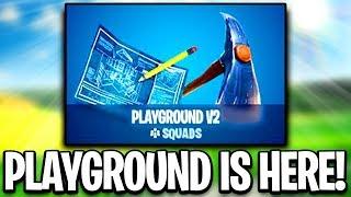 *NEW* PLAYGROUND V2 COUNTDOWN!! GIFTING SYSTEM!! FORTNITE BATTLE ROYALE!!  (LIVE)