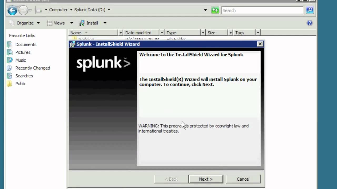 Installing Splunk on Windows